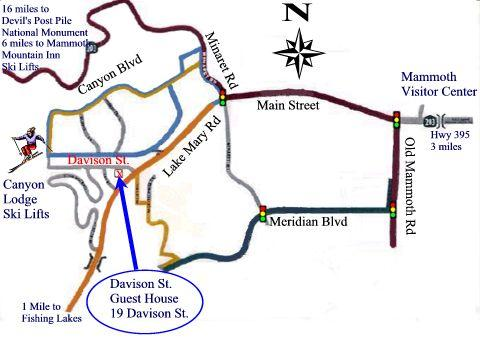 Detailed map, showing how to get to the Guest House.